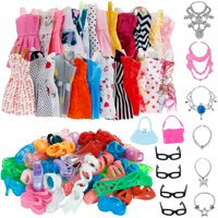 Girl Fashion Toy 32 Item/Set Doll Accessories Clothes For Barbie Doll