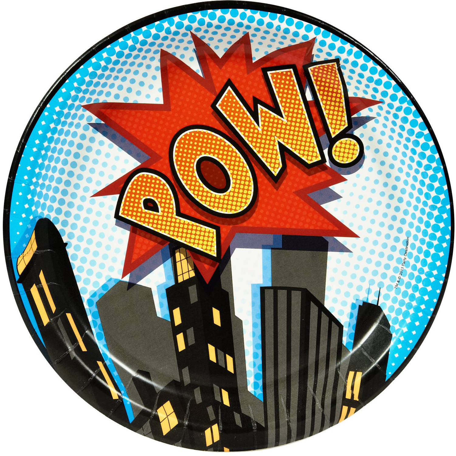 Superhero Comics Dinner Plates, 8pk