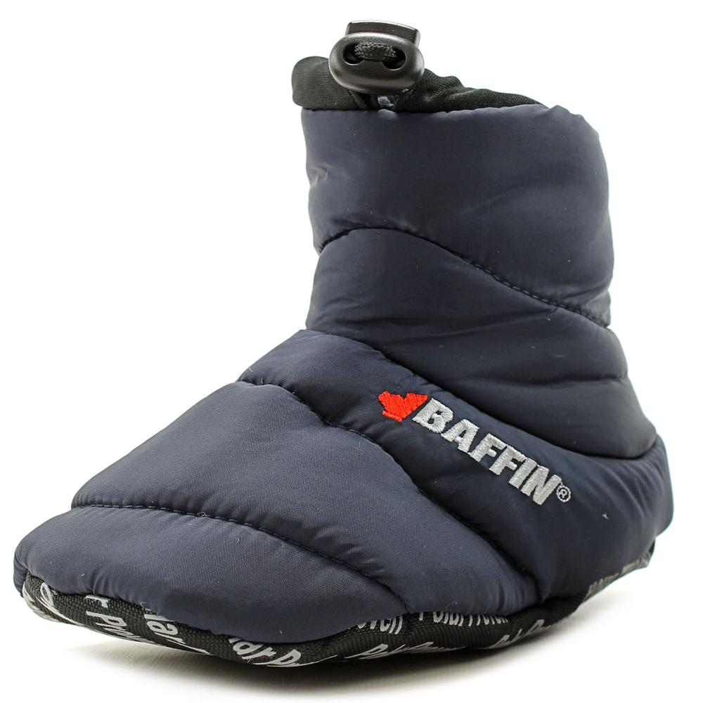 Baffin Cush Insulated Slipper Booty   Round Toe Canvas  Slipper