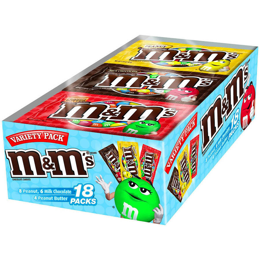 M&M'S Chocolate Candy Halloween Variety Pack, 18 count