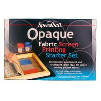 Speedball Art Opaque Fabric Screen Printing Ink Starter Set (Set of 6)