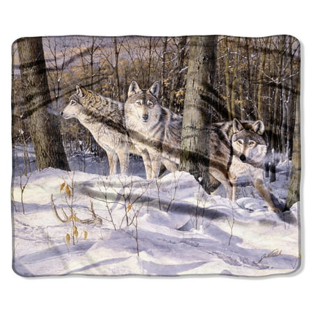 """American Heritage, """"Silent Trackers"""" Throw Blanket, 50?x 60?"""