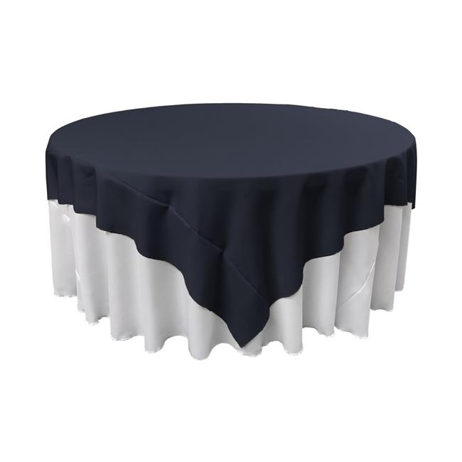 LA Linen TCpop72x72-NavyP72 Polyester Poplin Square Tablecloth, Navy 72 x 72 in. by LA Linen