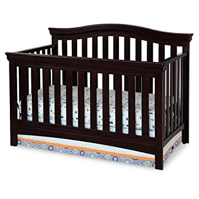 Delta Bennington Bell Curved Lifetime Crib Dark