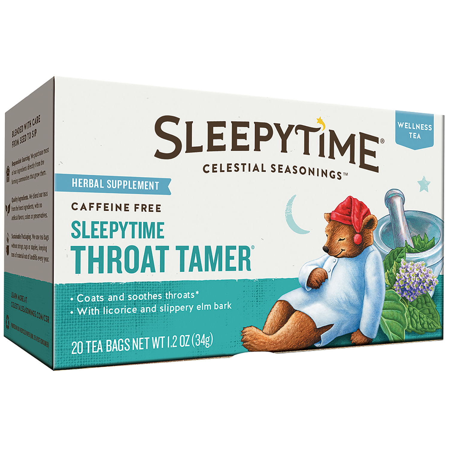 Celestial Seasonings™ Sleepytime® Throat Tamer® Herbal Supplement Tea Bags 20 ct Box