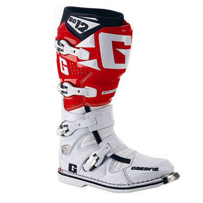 Gaerne SG-12 2014 Motocross Boots White/Orange 12  2174-018-012