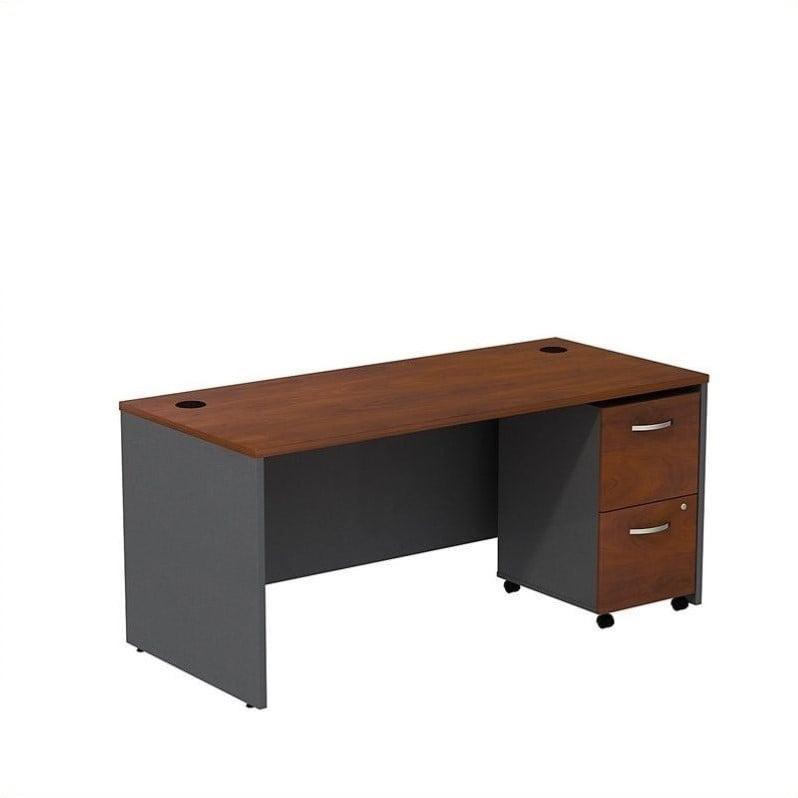 "Bush Business Series C 66"" Shell Desk with Pedestal in Hansen Cherry - image 1 of 1"
