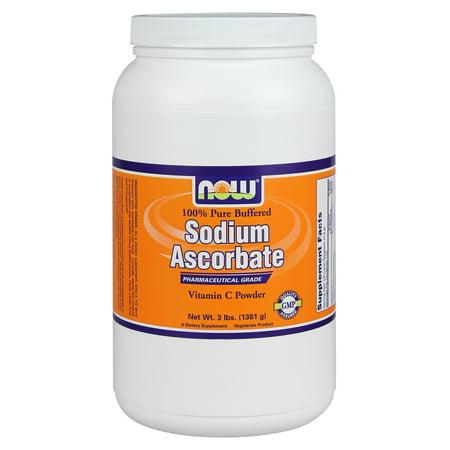 NOW Foods Sodium Ascorbate Antioxidant Protection, Pharmaceutical Grade, 3 lb