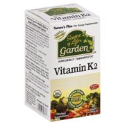 Natural Organics Laboratories Natures Plus Source of Life Garden Vitamin K2, 60 ea