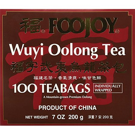 Foojoy Wuyi Oolong Tea 100 Individually Wrapped Teabags + One NineChef Spoon Per Order (Wuyi Diet Tea)