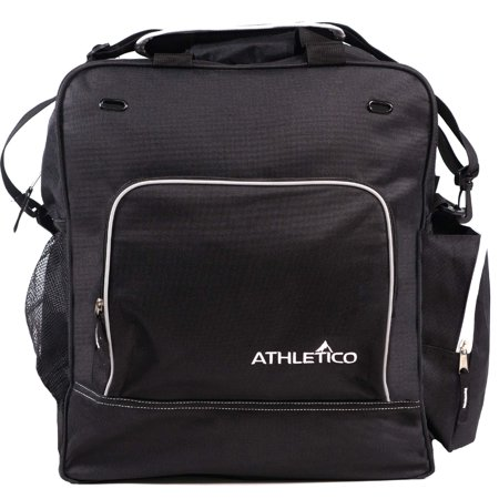 Athletico Weekend Ski Boot Bag - Snowboard Boot Bag - Skiing Snowboarding Travel Luggage - Stores Gear Including Jacket, Helmet, Goggles, Gloves & Accessories (Black) Black Ski Snowboard Travel Bags