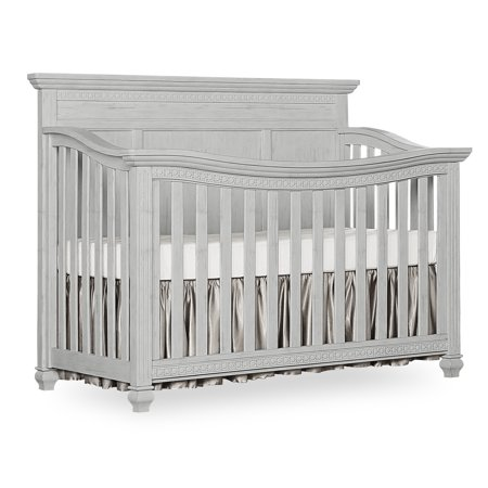 Evolur Madison 5 in 1 Flat Top Convertible Crib, Antique Grey Mist ()
