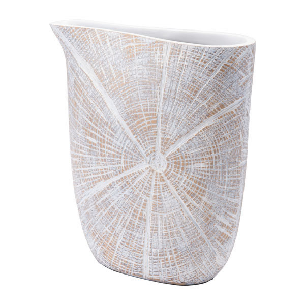 White Poly Jar Small Antique Beige