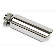 GO RHINO GRT4 5 x 2 Exhaust Tail Pipe Tip, Stainless Steel Tip, Sd Frd Dual 4 In.
