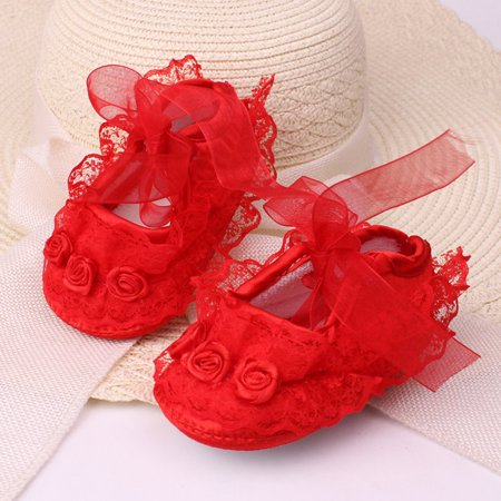 Fashion Lace Flower Baby Shoes Anti-skid Soft Outsole Cute Toddlers Shoes - image 1 of 3