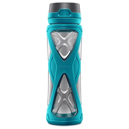 360 Water - Charge BPA-Free Plastic Water Bottle with 360 Dial-a-Flow Lid, Teal, 24 oz, New adjustable Dial-A-Flow 360 lid lets you drink at various flow rates from anywhere around.., By ZULU Ship from US