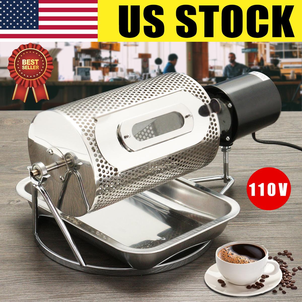 USA Stainless Steel Coffee Bean Roasting Machine Roaster Roller Baker Home 110V