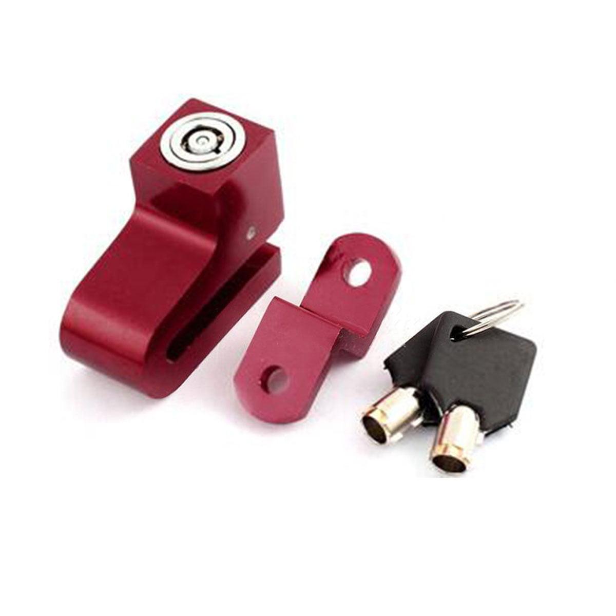 Scooter Security Anti-Theft Metal Disk Brake Wheel Lock - Red