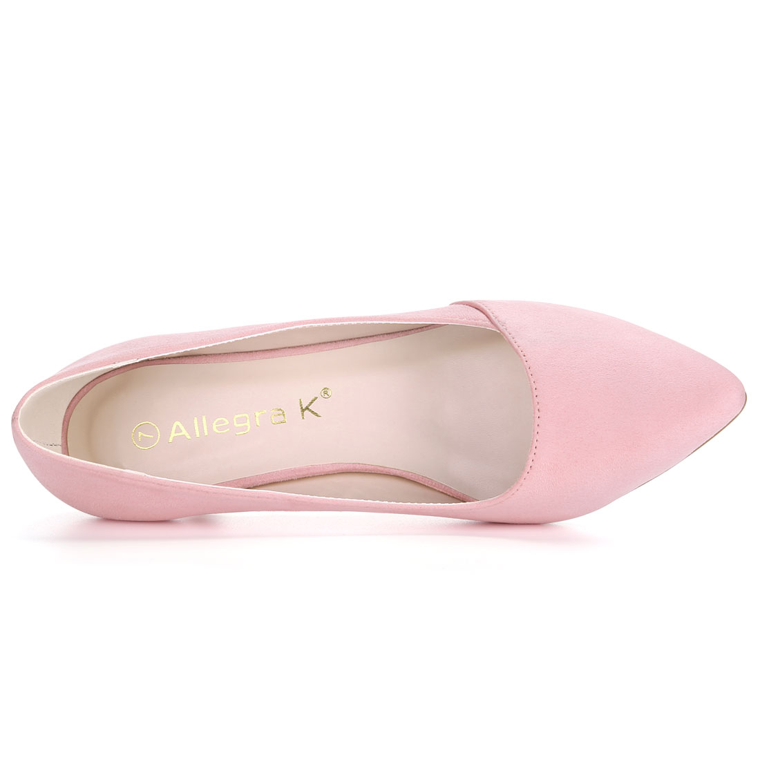 HF-27 Women Pointed Toe Mid Stiletto Heel Pumps Pink/US 9.5 - image 2 of 7