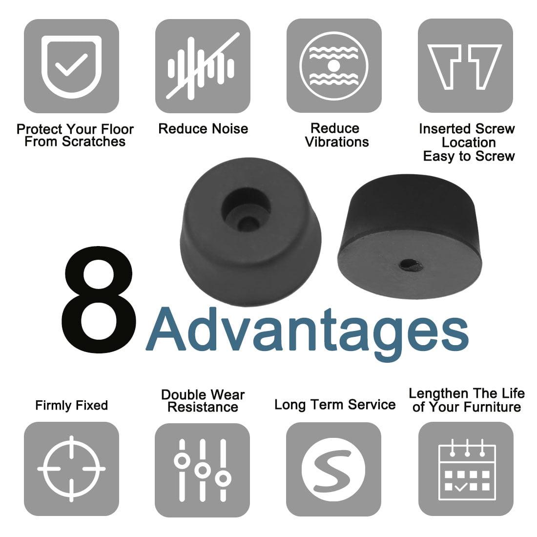 9pcs Rubber Feet Bumper Pads Amplifier Audio Instrument Printer, D26x22xH13mm - image 6 de 7