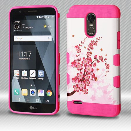 LG Stylo 3 Case, LG Stylo 3 Phone Case, by Insten TUFF Trooper [Shock  Absorbing] Hybrid PC/Silicone Case For LG Stylo 3 - Spring Flowers/Electric  Pink