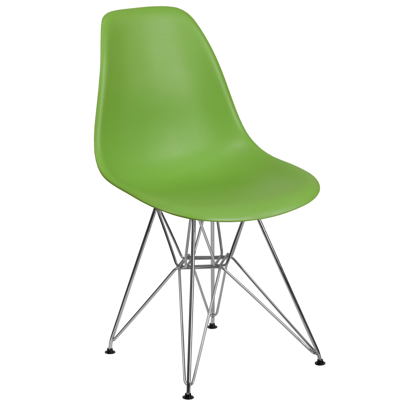 Lancaster Home Elon Series Plastic Chair with Chrome Base