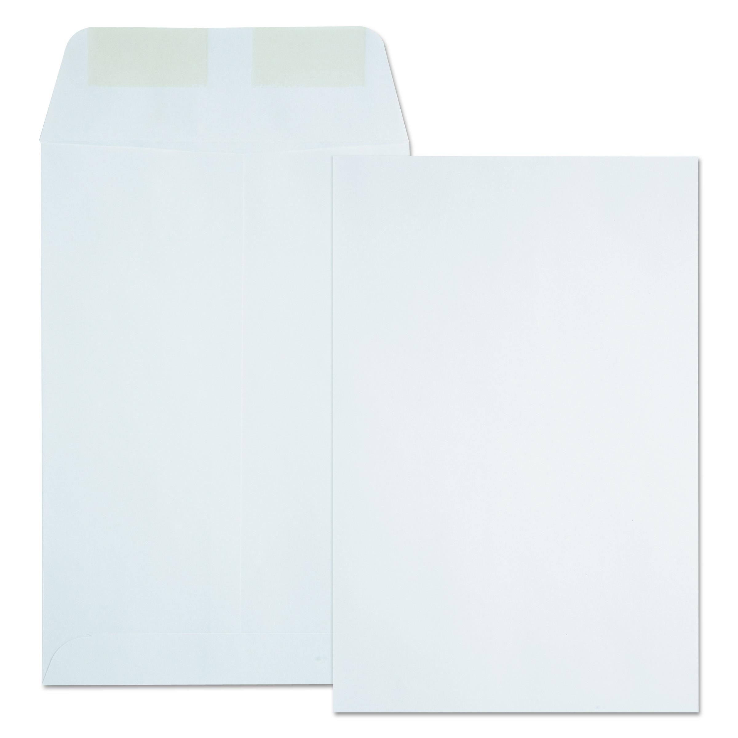 Quality Park Catalog Envelope, #55, 6 x 9, White, 500/Box -QUA40788