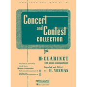 Rubank Educational Library: Concert and Contest Collection for BB Clarinet: Piano Accompaniment (Other)