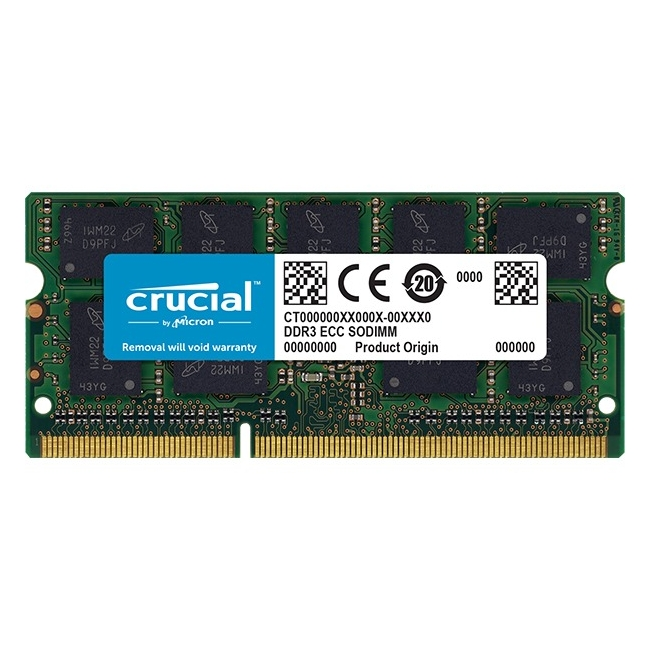 Crucial 4GB DDR3L SDRAM 1866 MHz 1.35V 204-pin SoDIMM Memory Module for Mac