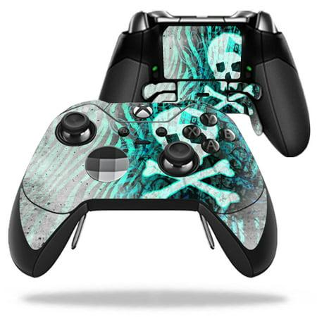 - MightySkins Protective Vinyl Skin Decal for Microsoft Xbox One Elite Wireless Controller case wrap cover sticker skins Zebra Skull