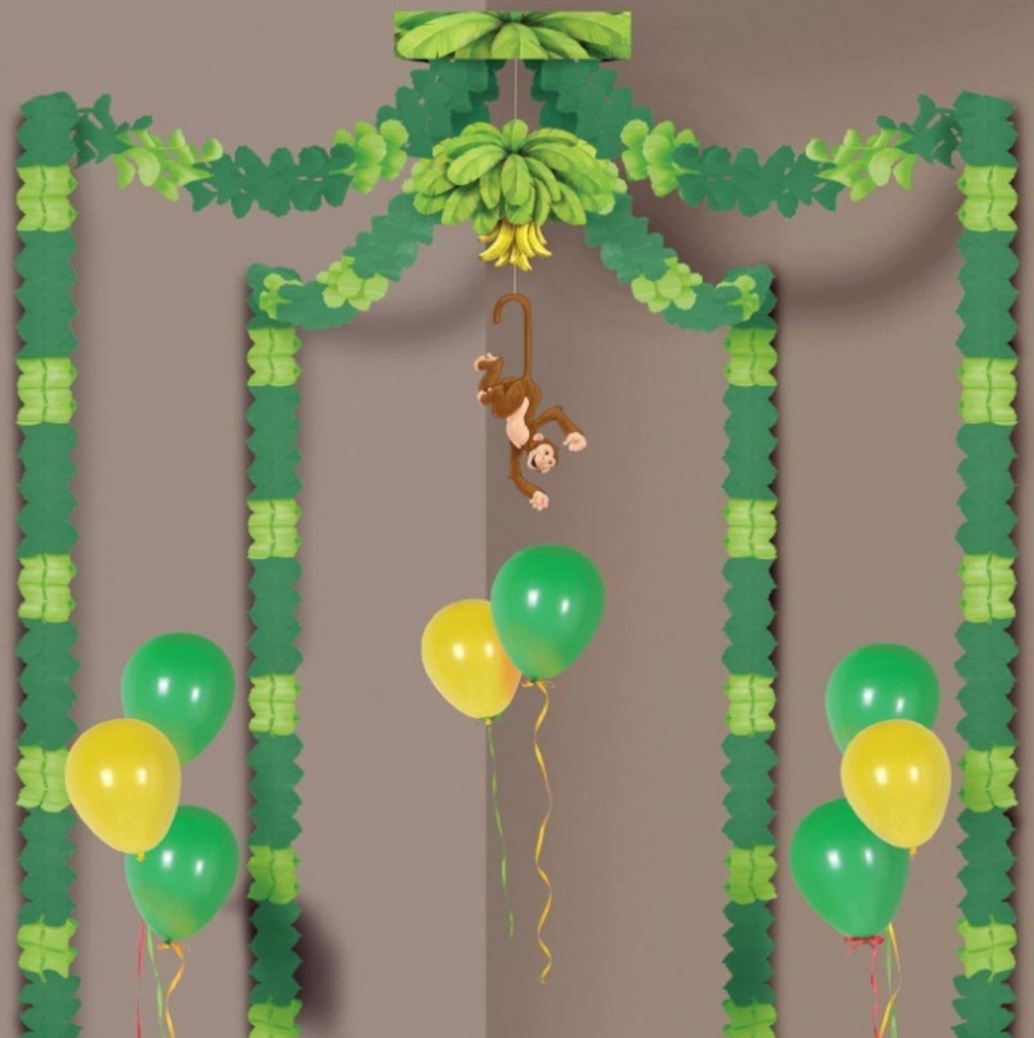 Pack of 6 Green Jungle Monkey Party Canopy Decorating Kit 20' x 20'