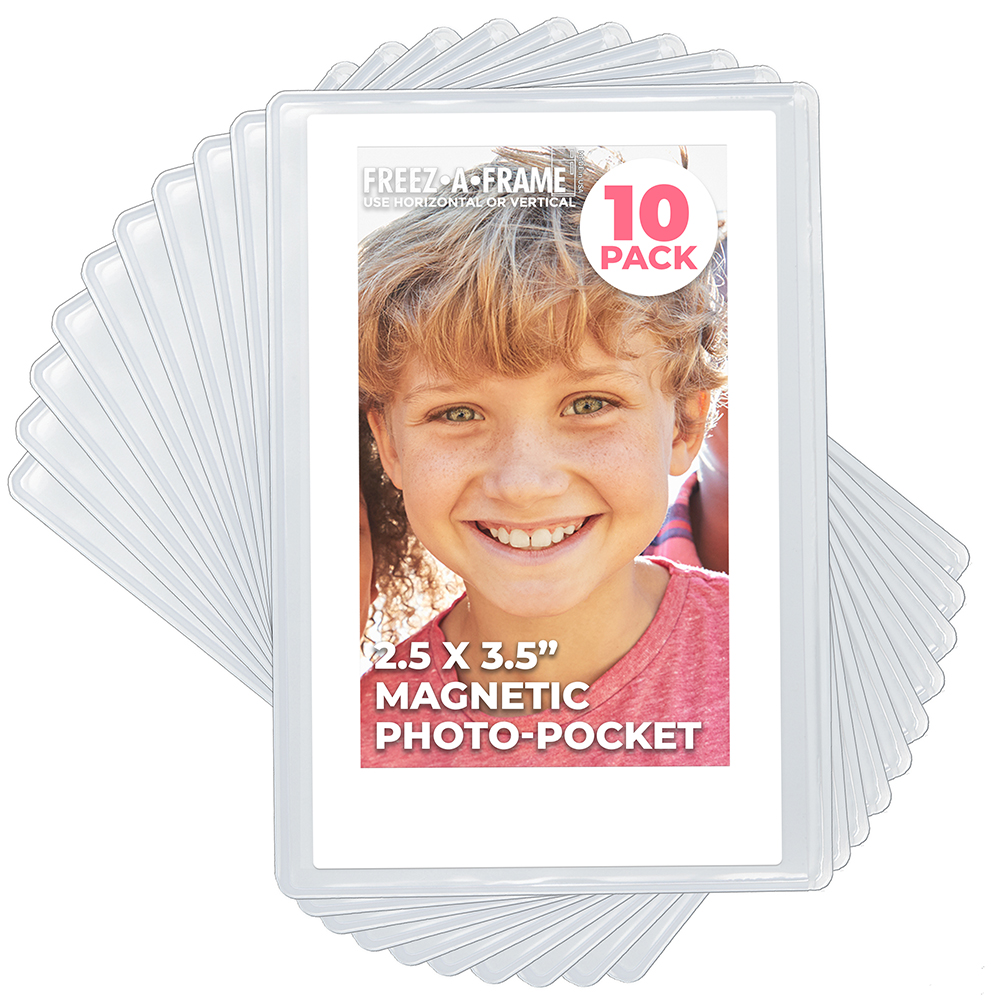 20 Pack 4x6 Magnetic Picture Frames for 4 X 6 Inch Photo Plastic Refrigerator Insert Holder Sleeve Pocket by Freez-a-frame Made in The USA Freeze A Frame