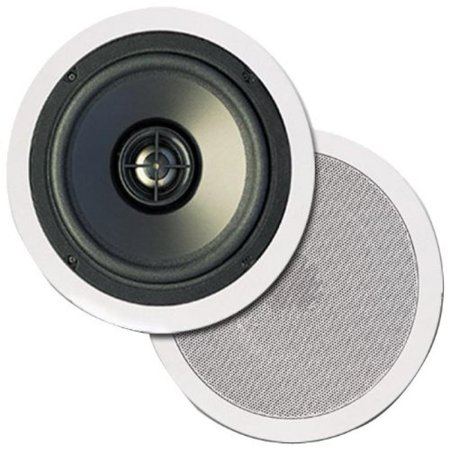 Pinnacle Speakers CM 8001 8-Inch 2-Way In-Wall / In-Ceiling Speakers with Pivot Mount Tweeters (White) (Discontinued by Manufacturer)