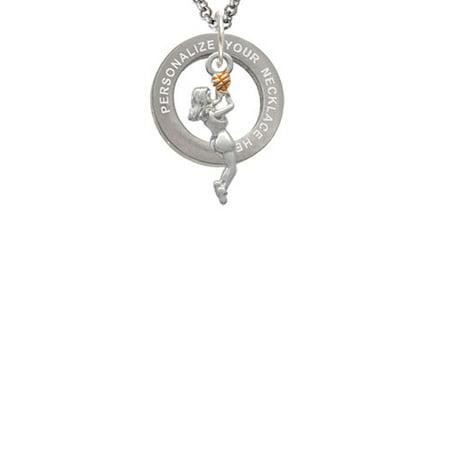 Basketball Player Girl Custom Engraved Affirmation Ring Necklace