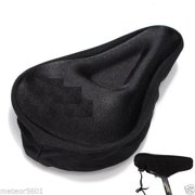 CableVantage Black Comfortable Durable Bike Bicycle Seat Cover Cushion Soft Gel Saddle