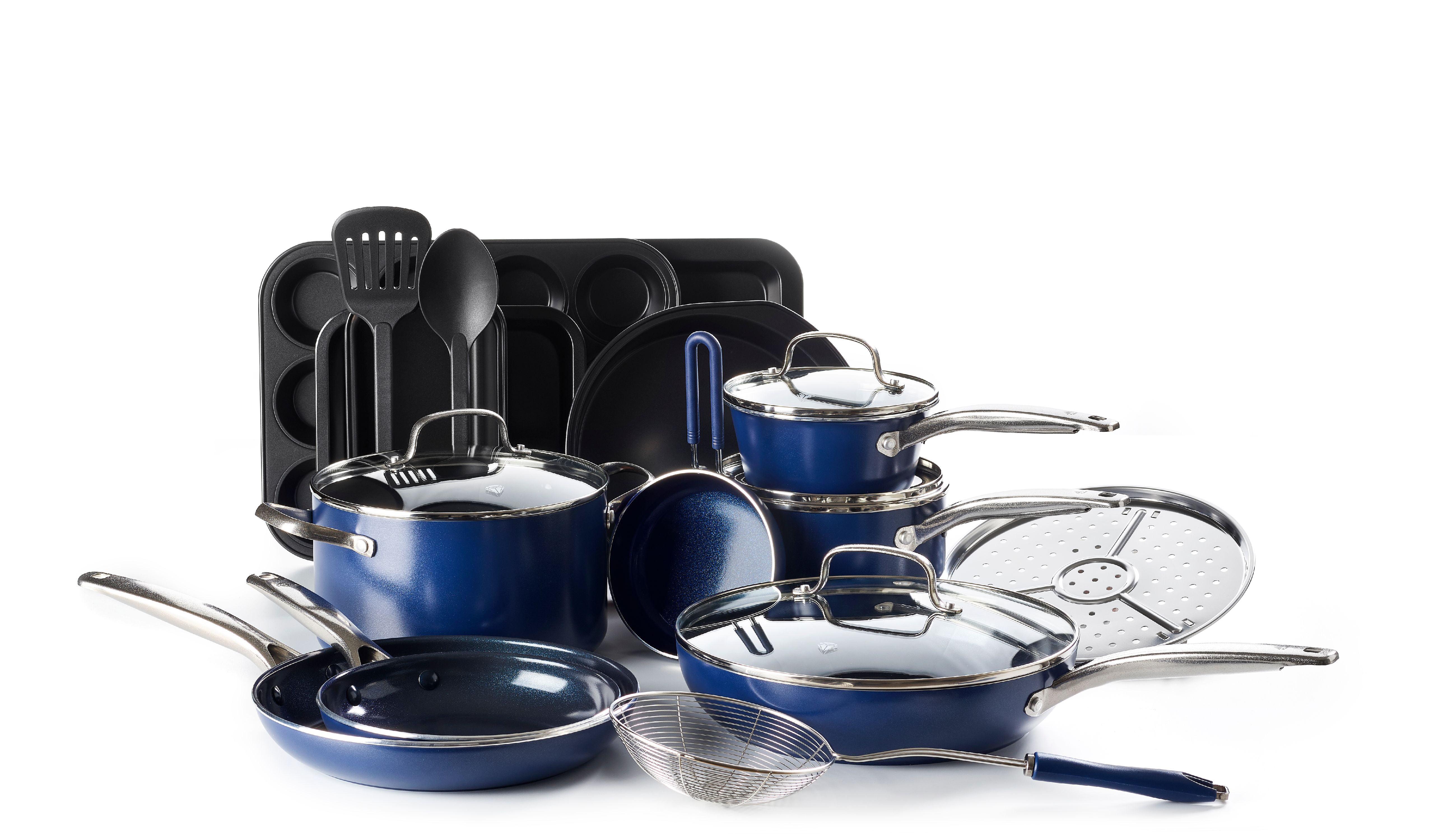 Blue Diamond Cookware Set, 20-Piece