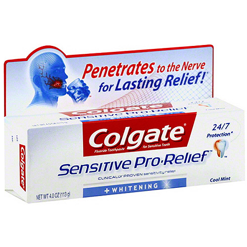 Colgate Sensitive Pro-Relief + Whitening Cool Mint Toothpaste, 4 oz