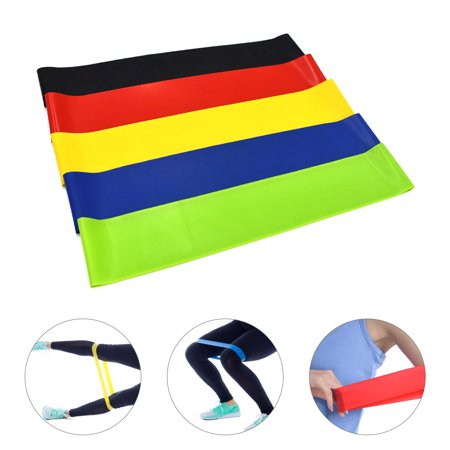 Set of 5 Exercise Resistance Loop Bands with Carry Bag Latex Gym Strength Training Loops Bands Workout Bands Home Fitness Physical Therapy - image 5 de 6