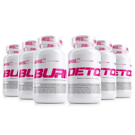 SHREDZ Sexy & Lean Supplement Stack for Women, Lose Weight, Burn Fat, Build Lean Muscle, Best Ingredients (3 Month (Best Weight Loss Muscle Building Supplement)