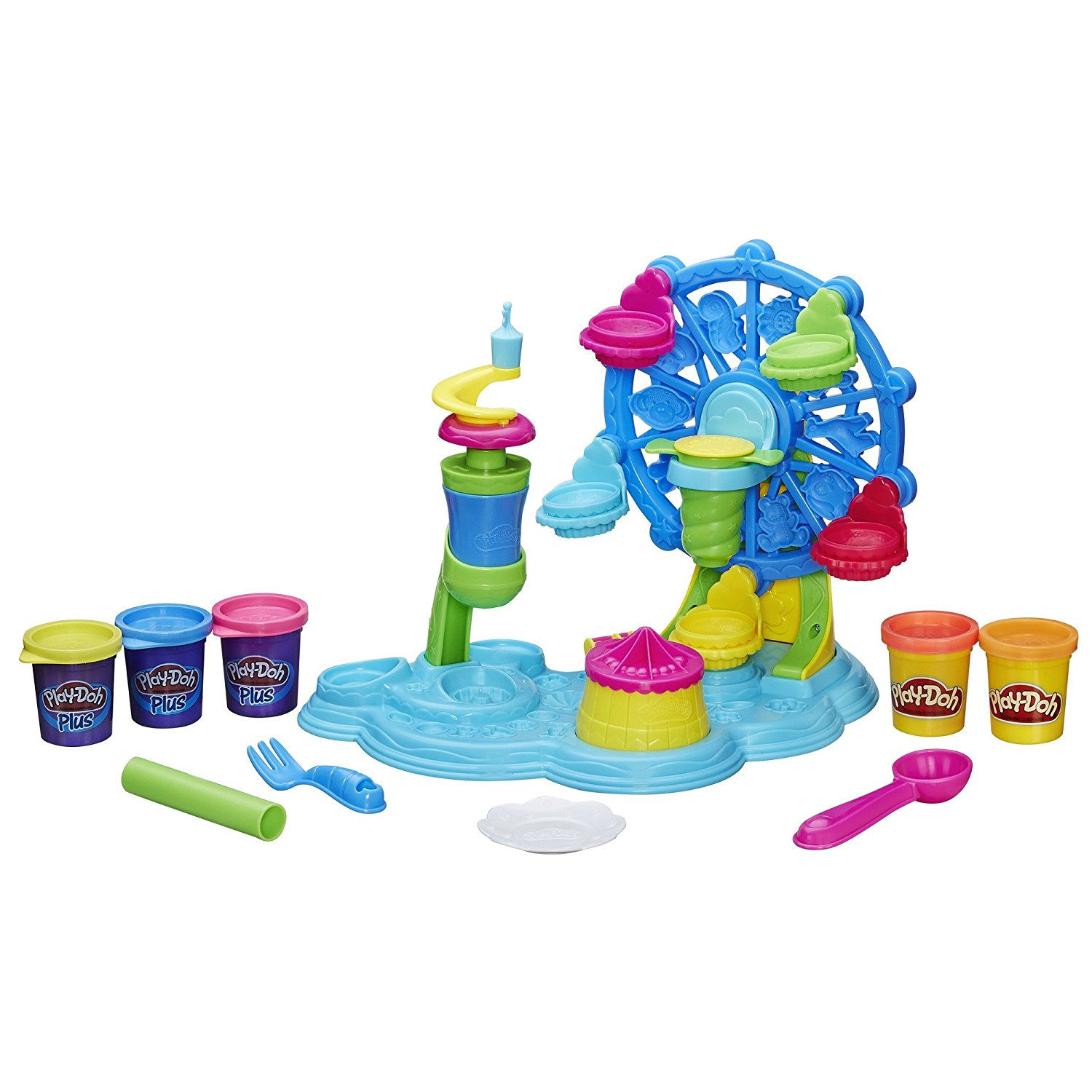 Play-Doh Cupcake Celebration Playset, Shape some colorful pretend cupcakes and give them a sweet ride By PlayDoh
