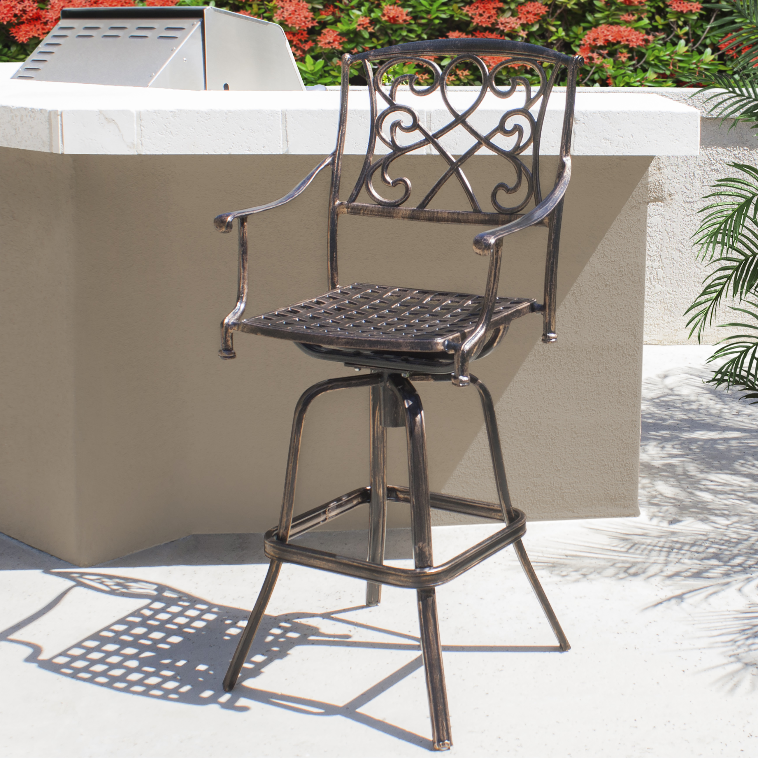"""Better Homes and Gardens 29"""" Padded Saddle Stool Cherry Walmart"""