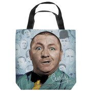 The Three Stooges Curly Heads Tote Bag White 13X13