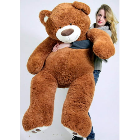 a7b02d5713f Big Plush Giant Teddy Bear Five Feet Tall Cinnamon Brown Color Soft Smiling  Big Teddybear 5 Foot Bear