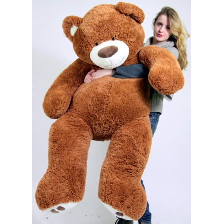 Big Plush Giant Teddy Bear Five Feet Tall Cinnamon Brown Color Soft Smiling Big Teddybear 5 Foot Bear for $<!---->
