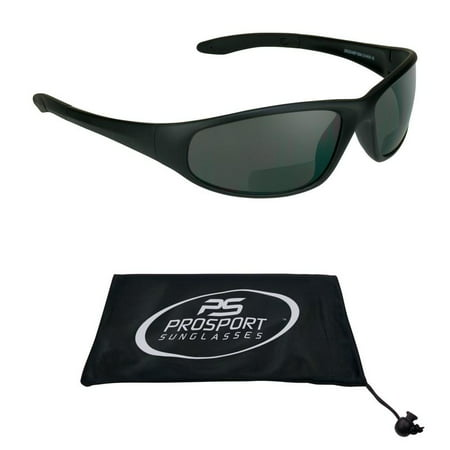 Sun Reader Bifocal Sunglasses Z87 Safety Rated Sports Wrap +1.50