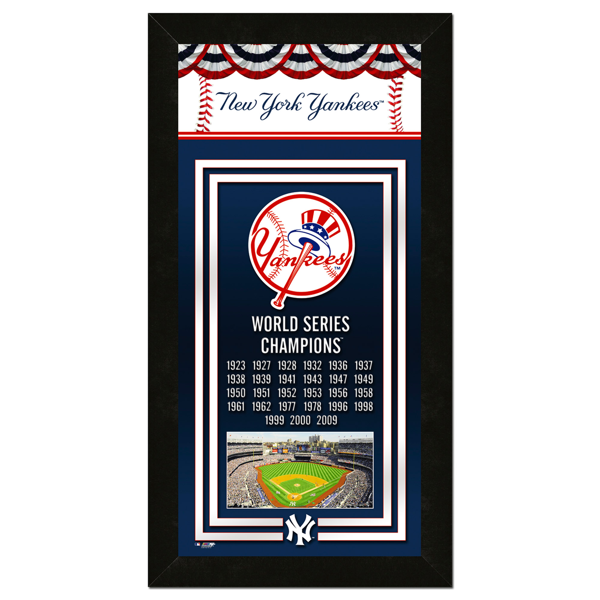New York Yankees 14.5'' x 27.5'' Banner Frame - No Size