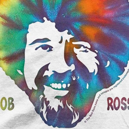 4daa9c955 Pop Culture - Men's Bob Ross Good Vibes Only Graphic Tee - Walmart.com