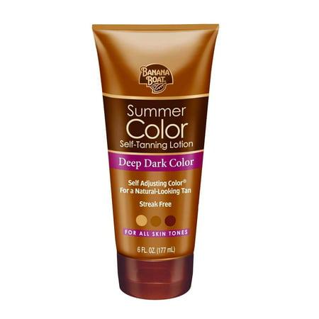 Banana Boat Summer Color Self-Tanning Lotion, Deep/Dark, 6