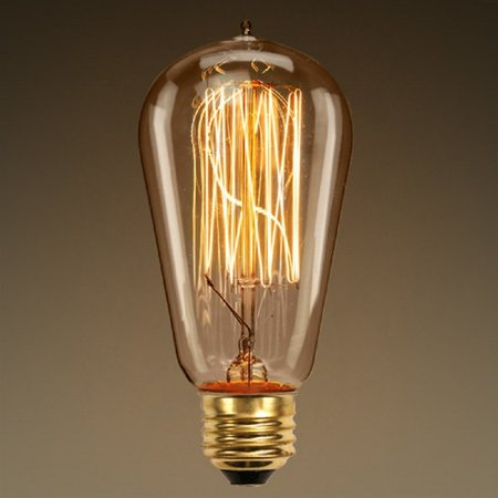 Edison Bulb 60W 5.2 in. Height Vintage Light Bulb Squirrel Cage Filament ST58 120V60W 13A By (Plt Cylinder)