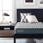 """Lucid Bounder 7"""" Innerspring Mattress with Quilted Fabric Cover, Twin"""